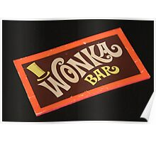 Charlie and the chocolate factory wonka bar Poster