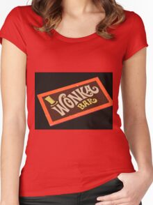 Charlie and the chocolate factory wonka bar Women's Fitted Scoop T-Shirt