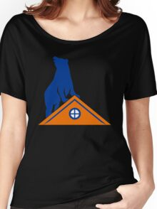 Bear On Roof Rectangle Retro Women's Relaxed Fit T-Shirt