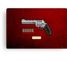 .44 Magnum Colt Anaconda on Red Velvet  Canvas Print
