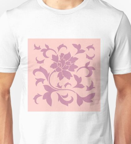Oriental Flower - Strawberry and Rose Quartz Unisex T-Shirt