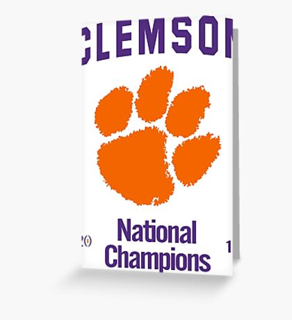 Updated: 2016 Clemson National Champion Greeting Card