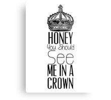 """Honey you should see me in a crown"" Moriarty quote from Sherlock (BBC) Metal Print"