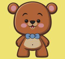 Brown Bear Boy Kawaii One Piece - Short Sleeve