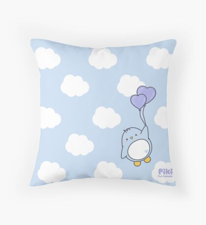 Piki in the sky Throw Pillow