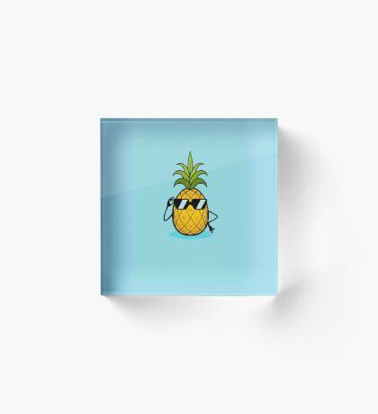 Ananas Cool Acrylic Block