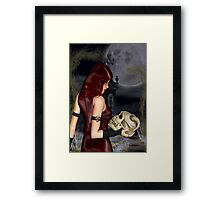 Witches Moon Framed Print
