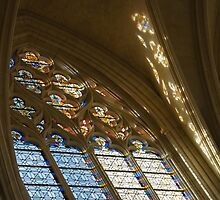 Glorious, Colorful Sunlight - Stained Glass Church Windows in a Royal Chapel in Paris, France by Georgia Mizuleva