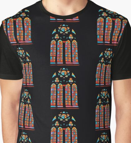 The Stained Glass Design Graphic T-Shirt