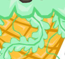 Mint Jelly Ice Cream Sticker