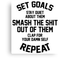 Set Goals Canvas Print