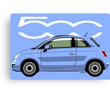 New Fiat 500 blue Canvas Print