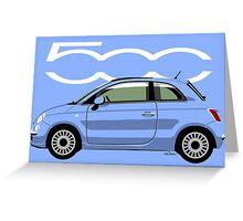 New Fiat 500 blue Greeting Card