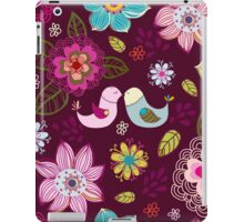 Seamless texture with flowers and birds. iPad Case/Skin
