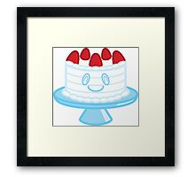 Happy Cake Dessert Friend Framed Print