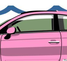 New Fiat 500 pink Sticker