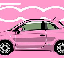 New Fiat 500 pink by car2oonz