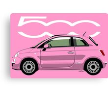 New Fiat 500 pink Canvas Print