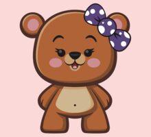 Brown Bear Girl Kawaii One Piece - Long Sleeve