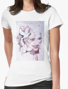 Woman and doves watercolor painting T-Shirt