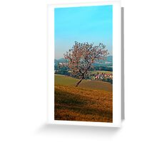 Tree on indian summer afternoon | landscape photography Greeting Card