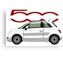 New Fiat 500 white Canvas Print