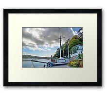 Boat At Portmeirion . Framed Print