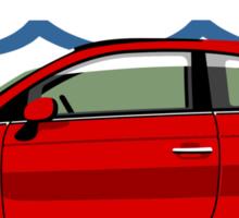 New Fiat 500 red Sticker