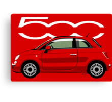 New Fiat 500 red Canvas Print