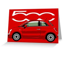 New Fiat 500 red Greeting Card