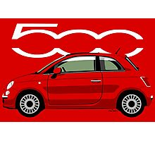 New Fiat 500 red Photographic Print