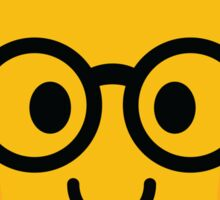 Bell Pepper Emoji Nerd Noob Glasses Sticker