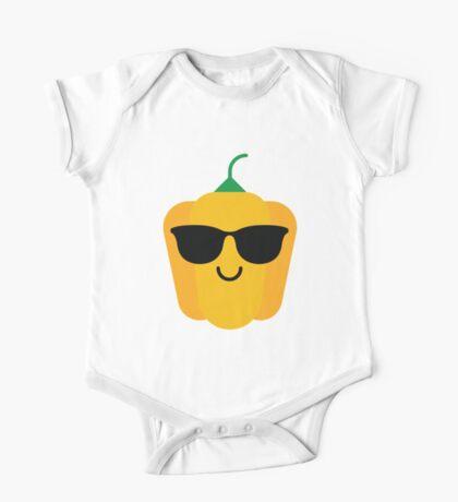 Bell Pepper Emoji Cool Sunglasses One Piece - Short Sleeve