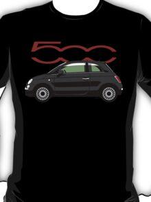 New Fiat 500 black T-Shirt