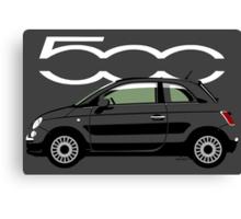 New Fiat 500 black Canvas Print
