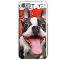 FUNNY GOOFY BOSTON TERRIER DOG~Just Try not TO Laugh! iPhone Case/Skin