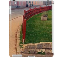 Fancy fence and little village houses | architectural photography iPad Case/Skin