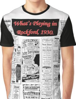 Rockford Movie Posters, 1930 - White Background Graphic T-Shirt