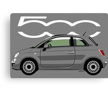 New Fiat 500 grey Canvas Print