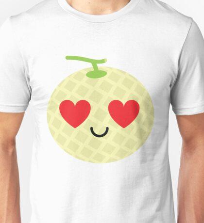 Melon Emoji Heart and Love Eye Unisex T-Shirt