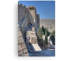 Stairs to Heaven, Lindos Canvas Print