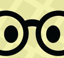 Melon Emoji Nerd Noob Glasses Sticker