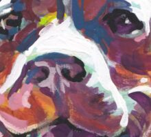 Pitbull Dog Bright colorful pop dog art Sticker