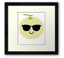 Melon Emoji Cool Sunglasses Framed Print