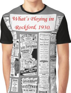Rockford Movie Posters, 1930 - Grey Background Graphic T-Shirt