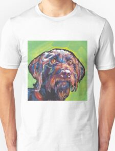 German Wirehaired Pointer Bright colorful pop dog art T-Shirt