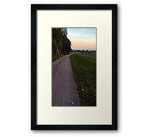 Country road into dawn | landscape photography Framed Print