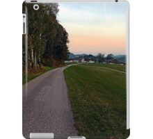 Country road into dawn | landscape photography iPad Case/Skin