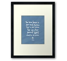 dr seuss you have brains in your head Framed Print
