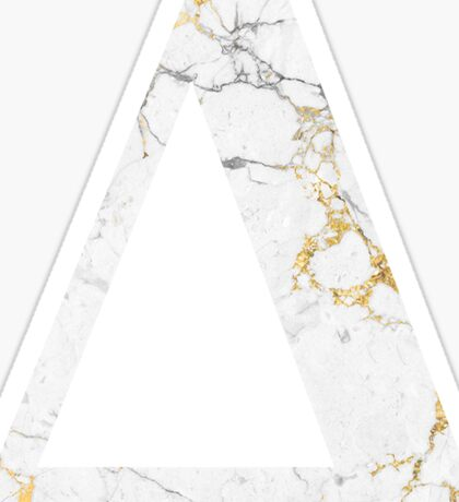 Delta Gold Foil White Marble Sticker